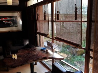 Relax in Tensui's lovely wa-modern atmosphere