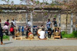 Le parc du château d'Osaka