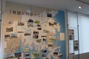 Wall map outlining urban planning projects for the future