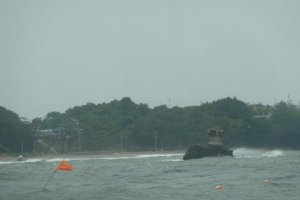 This poor little island in Matsushima Bay has almost completely eroded away.