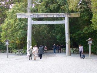 A gate near the Outer Shrine