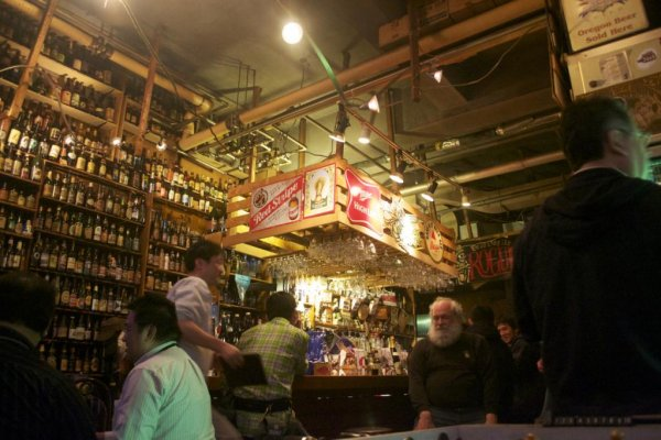 A scene at the bar on January 31st, 2012, with owner Phred Kaufman seated at the bar.