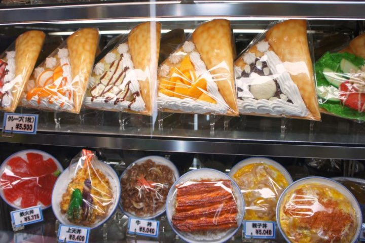 Plastic Food at Kappabashi, Asakusa