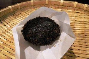A black croquette