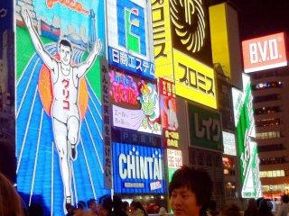 Osaka's heartbeat Dotonbori is sandwiched between Nanba and Shinsaibashi.