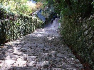 Steep path down