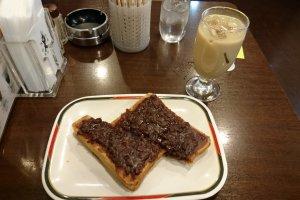 Ogura toast and coffee