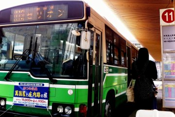 Akita City by bus and foot