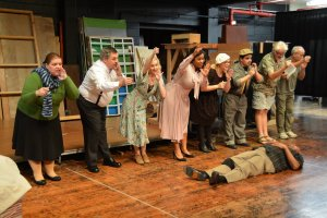 """Something's Afoot"" musical number in rehearsal"