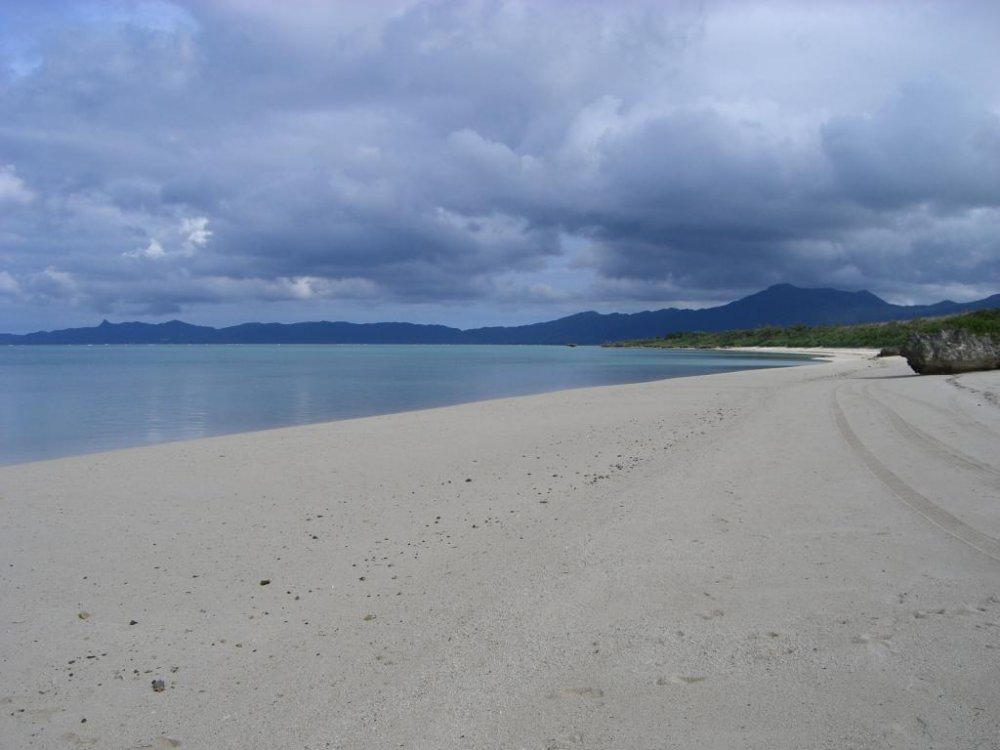 Deserted white sand beach near the Club Med in the northwestern corner of the island