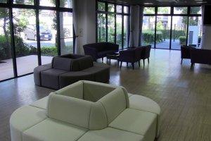 The main floor lounge