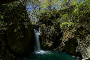 Find the hidden waterfall on the cycling tour