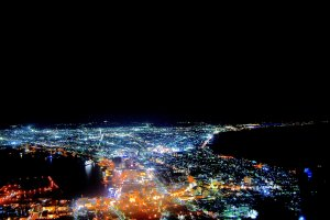Night scenery viewed from Mount Hakodate