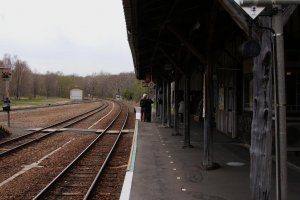 Waiting for the train to Abashiri