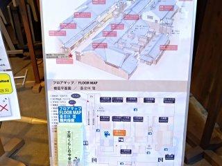 """Ao entrar no museu pode pagar 100 ienes extra (80 cêntimos) e obter o audio-guia em inglês. Ao aceder ao 8º piso encontra uma reprodução de um bairro (""""machi"""") de Osaka em meados do século XIX, e aí pode visitar vários locais e ouvir a explicação."""