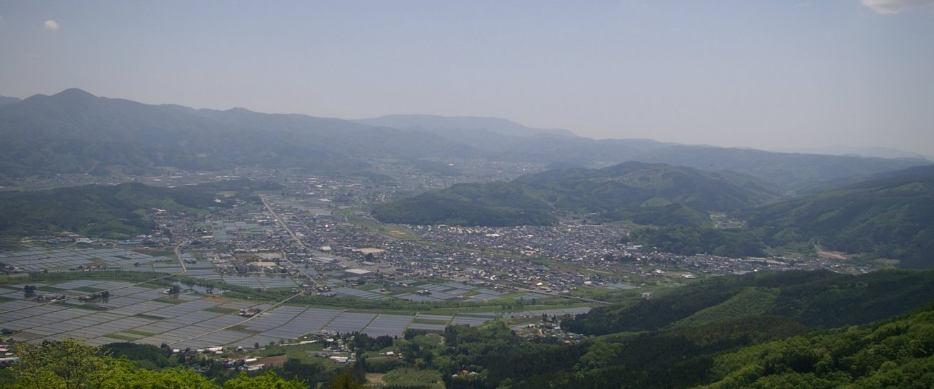 The view of Tono from Mt. Takashimizu