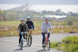 Cycling on Celeste Hill