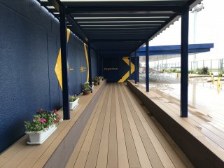 There's a wonderful deck area where you can watch the planes arrive and depart