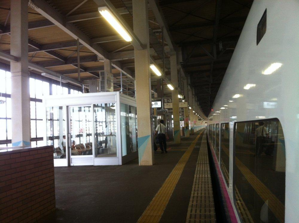Shinkansen parked for awhile.