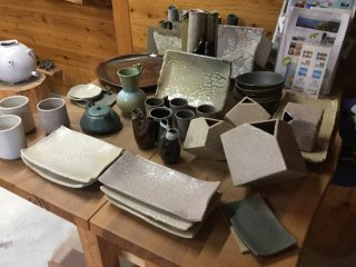Pottery, plates and other items that you can learn to make or buy ready made.