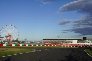 One of Suzuka Circuit corners with its phenomenal ferris wheel