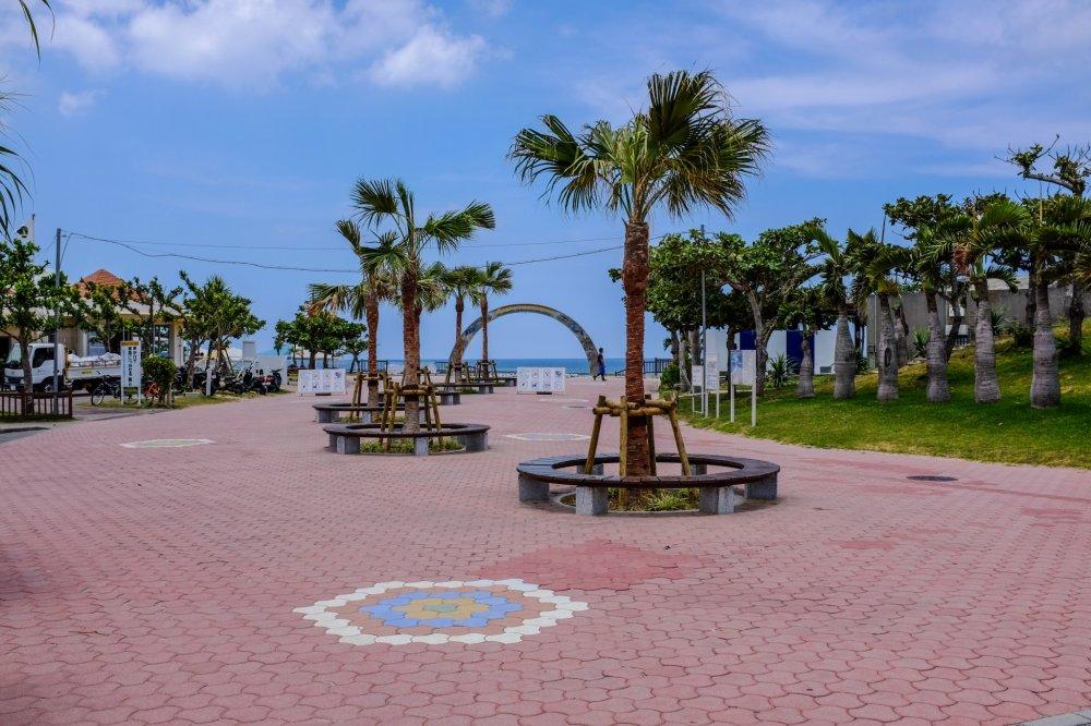 The beach entrance