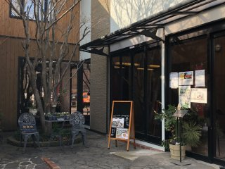 Chic entrance to Restaurant Yuwa