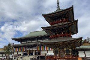 Narita Shinshoji's main building and pagoda