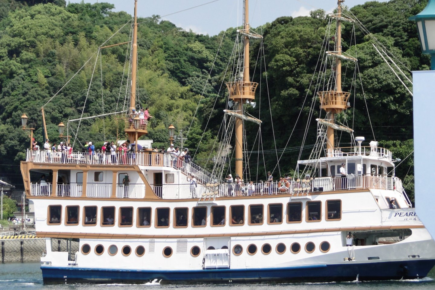 The Pearl Queen takes visitors on tours of Kujukushima National Park