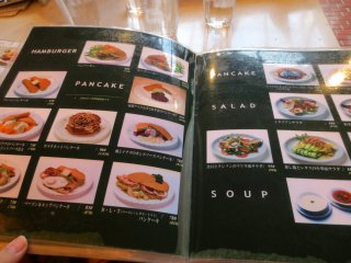The menu with many helpful and enticing pictures