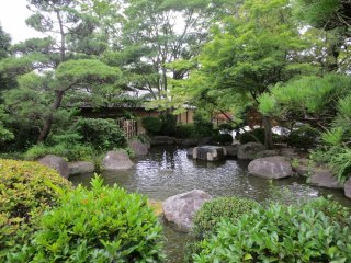 One of the smaller ponds in Heisei Garden
