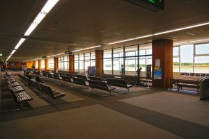 Waiting area by the boarding gate