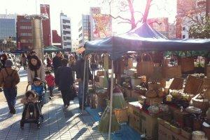 Handmade wooden baskets and lanterns