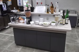 The 'welcome drink' bar!