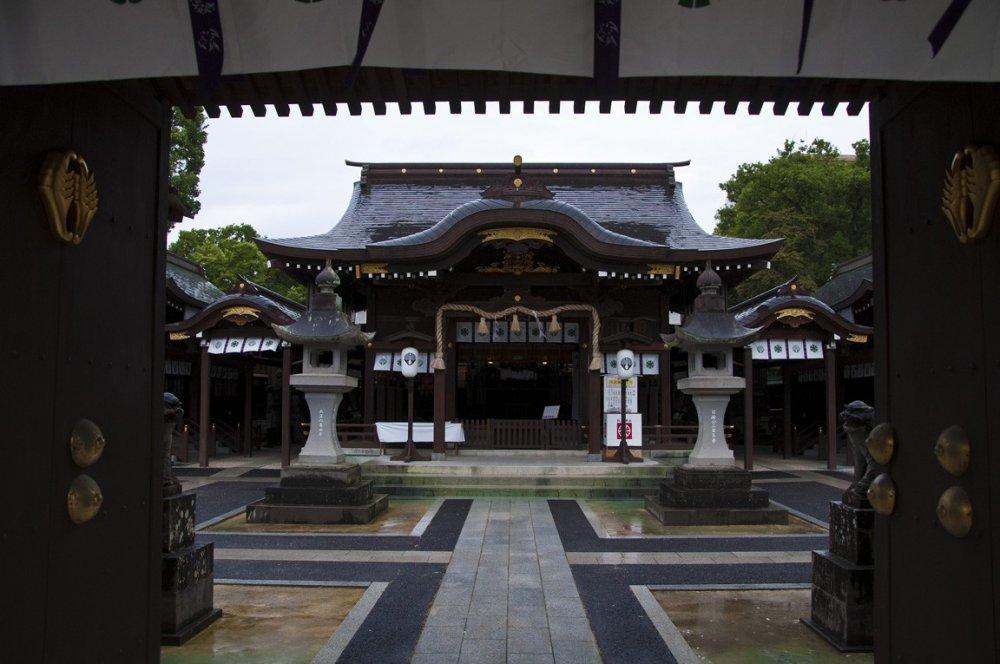 Le bâtiment principal du sanctuaire Matsubara