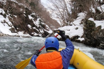 Rafting in Minakami in February
