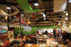 All-you-can-eat dinner buffet at Mugibatake restaurant