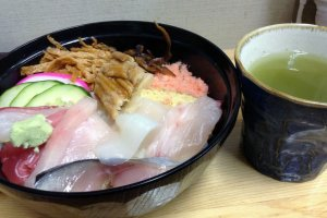 Fresh is the best. Ishinomaki is traditionally a fishing town, so of course the sushi is incredibly delicious!