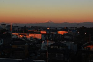 Morning view of Mount Fuji from the guestroom