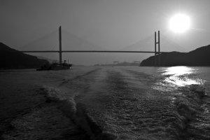 The impressive Megami Ohashi Bridge we passed on our way to the island