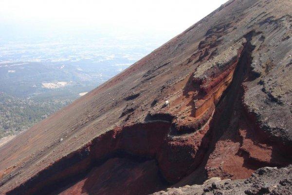 45 degree steep rise of Takachiho-dake