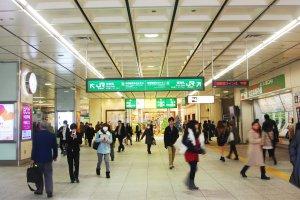 Busy and bustling Omiya station.