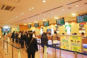 JR East ticket office in Omiya station.