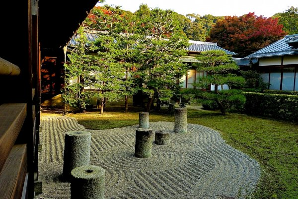 Jardim Oriental: Colunas retratando a Ursa Maior