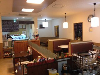 The restaurant is relatively new being built after the recent widening of Route 74 in Okinawa City