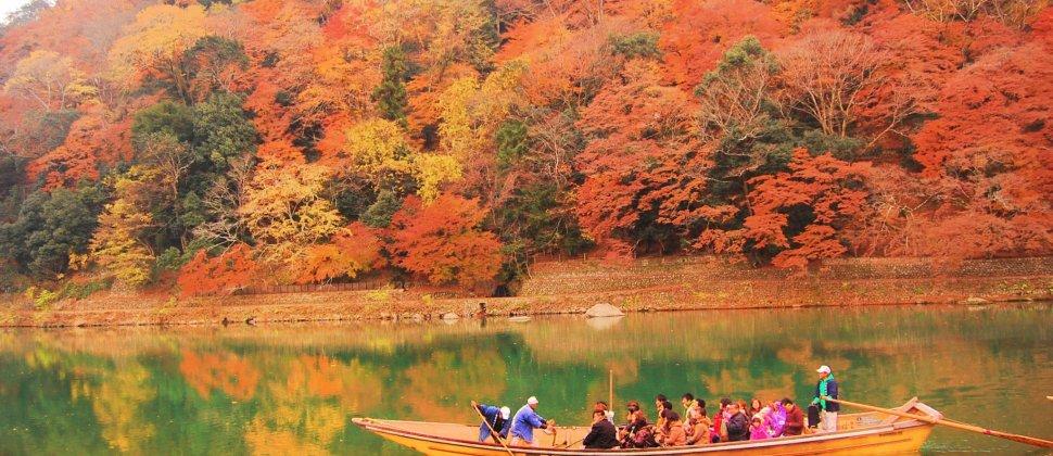 호즈가와 강의 가을