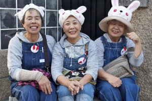 Sake festival smiles