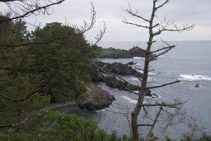 Vista do oceano de um dos acampamentos