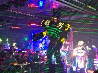 This was the tallest robot of all. Lasers and all!