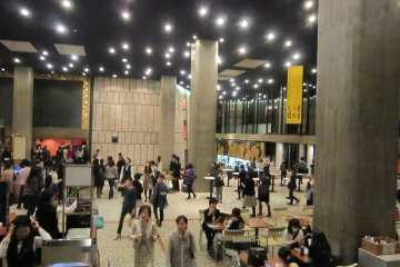 <p>In the lobby of the main hall of Tokyo Bunka Kaikan during intermission</p>